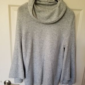Cowl neck bell sleeve sweater